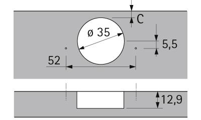 hinge dimensions